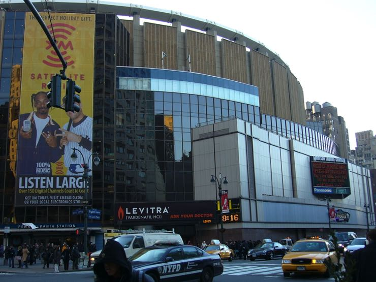 Madison Square Gardens, home of the New York Knicks