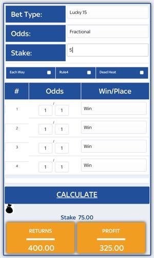 Multiples bet calculator
