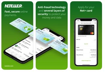 Neteller app screenshot
