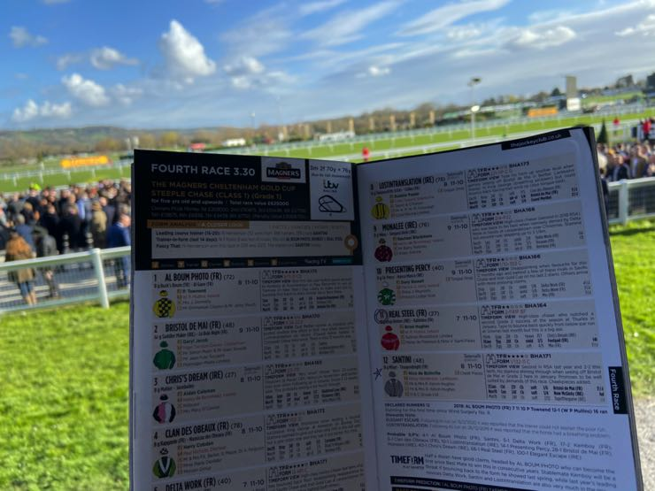 Racecourse racecard