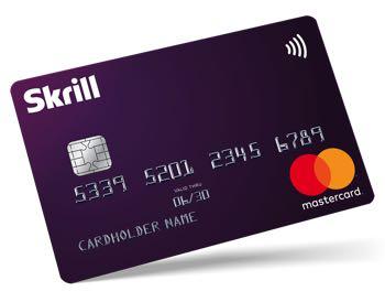Skrill pre-paid mastercard