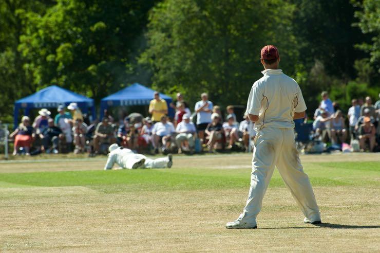 Summer cricket game