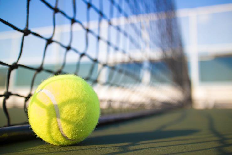 Tennis ball blurred